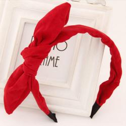 Hiuspanta|SUGAR SUGAR, Red Bow in Suede -punainen hiuspanta