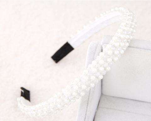 Hiuspanta|SUGAR SUGAR, Sparkly Hairband in White -valkoinen hiuspanta
