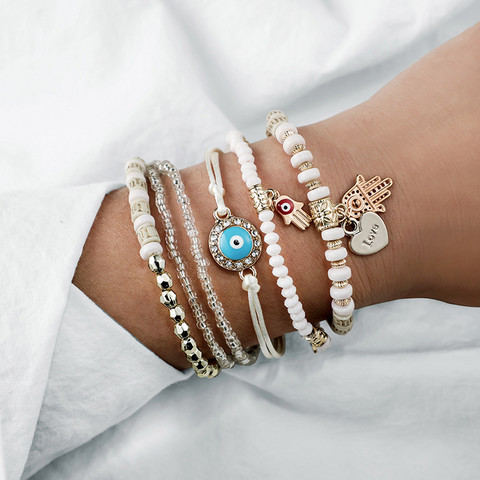 Rannekorusetti, FRENCH RIVIERA|White Boho Bracelets