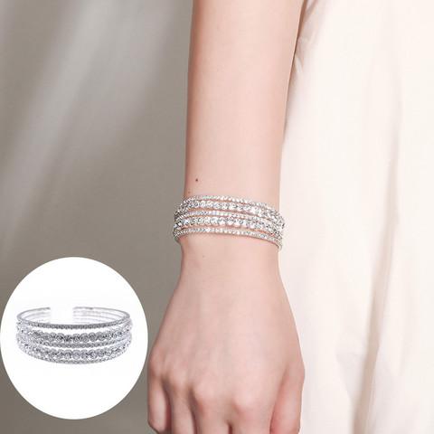 Rannekoru, ROMANCE|Elegant Five Layer Bracelet -strassirannekoru