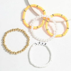 Rannekorusetti, FRENCH RIVIERA|Surf Bracelets-Orange Love