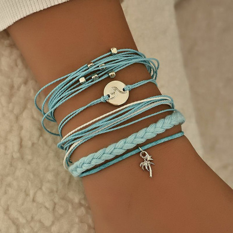 Rannekorusetti, FRENCH RIVIERA Beach Bracelets in Turqoise