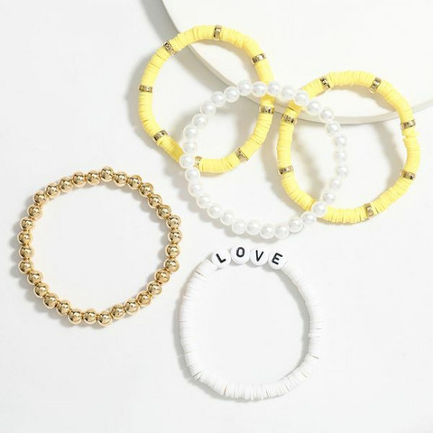 Rannekorusetti, FRENCH RIVIERA|Surf Bracelets-Yellow Love