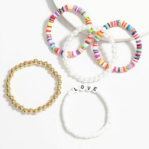 Rannekorusetti, FRENCH RIVIERA|Surf Bracelets-Multicolor Love