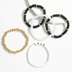 Rannekorusetti, FRENCH RIVIERA|Surf Bracelets-Black Love