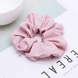 Donitsi/Scrunchie|SUGAR SUGAR, Pink with White Stripes