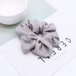 Donitsi/Scrunchie|SUGAR SUGAR, Grey with White Stripes