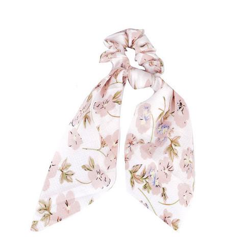 Donitsi/Scrunchie|SUGAR SUGAR, Bowtie with Flowers in White