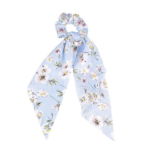 Donitsi/Scrunchie|SUGAR SUGAR, Bowtie with Flowers in Blue