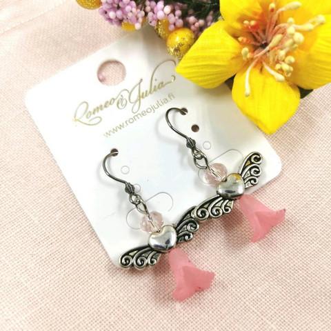 Korvakorut, Angel -vaaleanpunaiset enkelikorvakorut