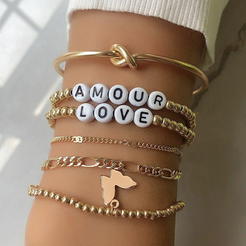 Rannekorusetti, FRENCH RIVIERA|Amour/Love Bracelets in Gold