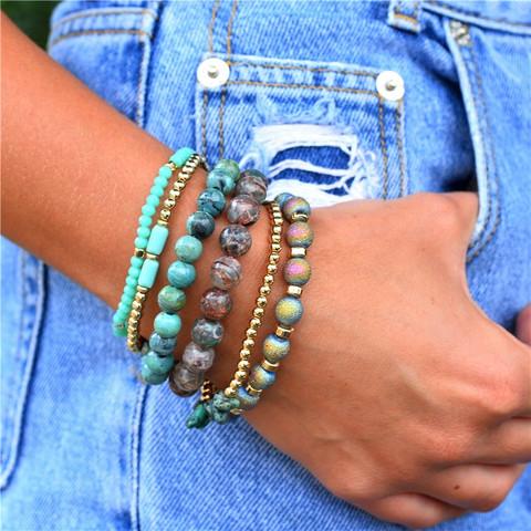 Rannekorusetti, FRENCH RIVIERA Boho Turqoise Bracelet Set
