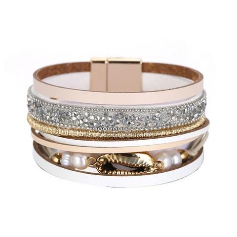 Rannekoru, FRENCH RIVIERA Wide Boho Bracelet