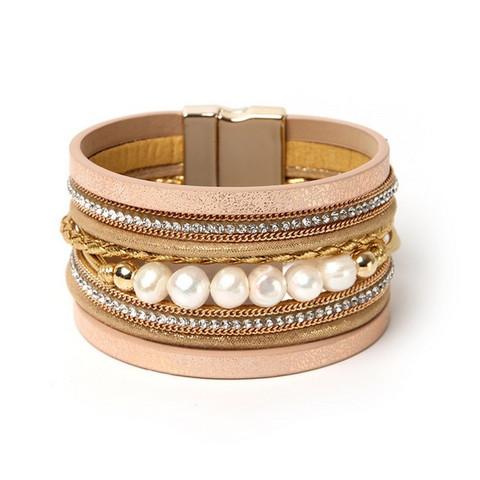 Rannekoru, FRENCH RIVIERA Boho Pearl Bracelet in Gold