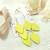 LEMPI-korvakorut, Lehdet (vaalea sitruunankeltainen, siro 3-os)