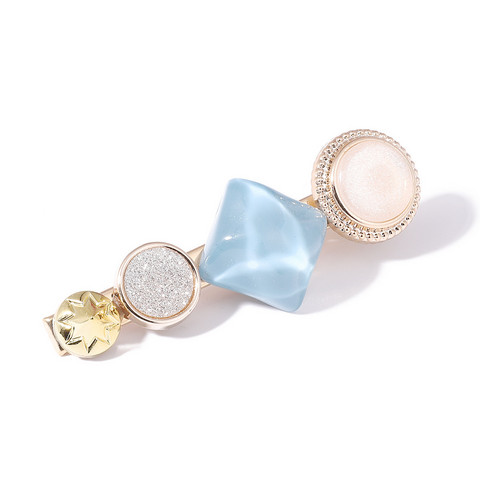 Hiuspinni|SUGAR SUGAR, Stylish Gold Clip with Blue