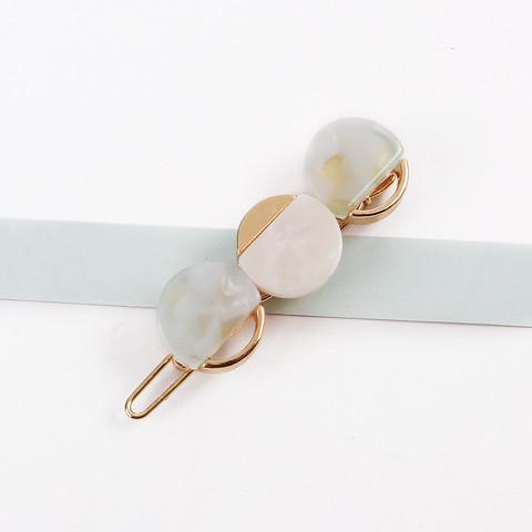 Hiuspinni|SUGAR SUGAR, Minimalistic Gold Clip in White
