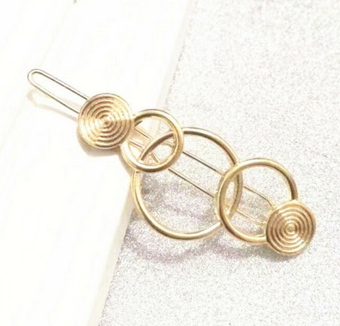Hiuspinni|SUGAR SUGAR, Minimalistic Circles Gold Clip