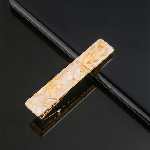 Hiuspinni SUGAR SUGAR, Simple Seashell Hairclip in Gold & White