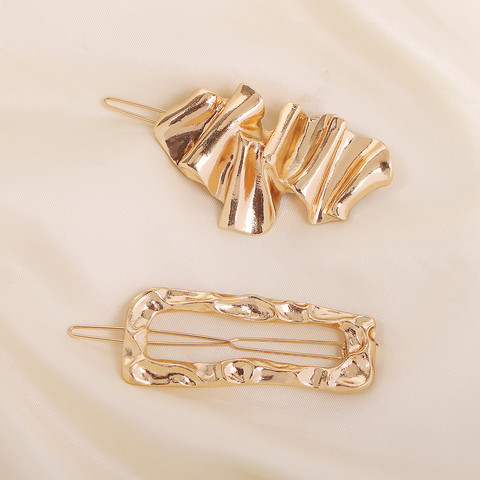 Pinnisetti SUGAR SUGAR, Asymmetrical Clip Set in Gold
