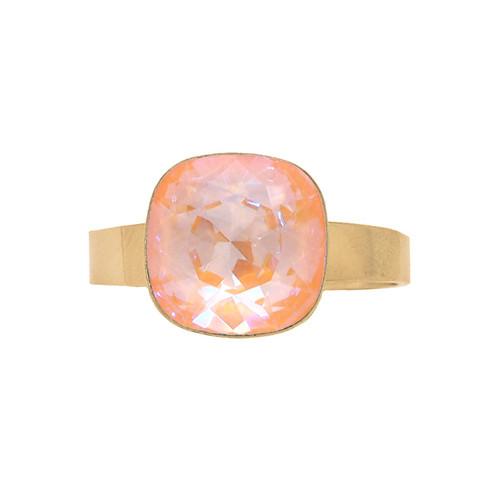 Sormus, BOHM PARIS Bague Bea Peach DeLite Crystal