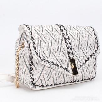 Laukku, BESTINI Paris Boho Handbag with Black Details