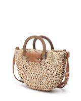 Laukku, BESTINI Paris|Straw Handbag in Beige and Gold