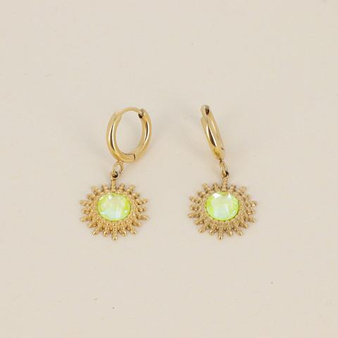 Korvakorut, BOHM PARIS|Boucles Dao avec cristal electric yellow