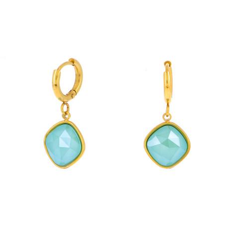 Korvakorut, BOHM PARIS|Boucles D'oreilles Léa avec cristal azure blue