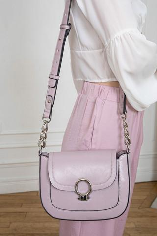Laukku, BESTINI Paris|Soft Lined Crossbody Handbag in Lilac