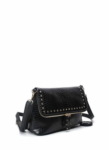Laukku, BESTINI Paris Small Handbag in Black with Gold Details