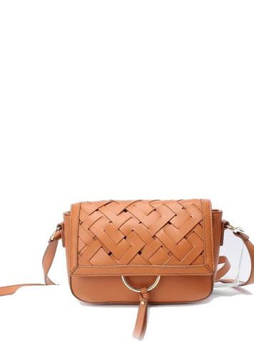 Laukku, BESTINI Paris|Handbag in Brown with Braided Decoration