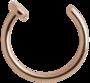 Lävistysrengas, nenärengas Steel Roseline® Open Nose Hoop 0,8mm