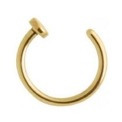 Lävistysrengas, nenärengas Steel Zirconline® Open Nose Hoop 0,8mm