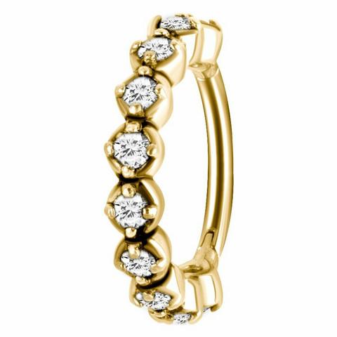 Lävistysrengas, Premium Glamour CZ Zirconline® Segment Clicker