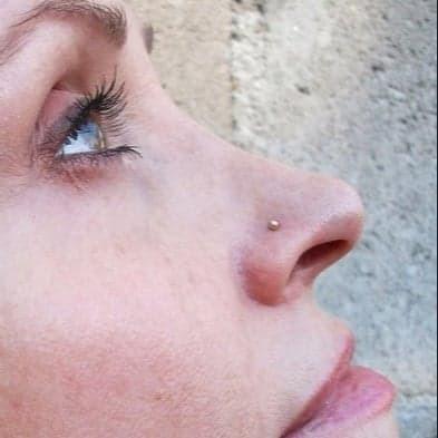 Nenäkoru, nenänappi Steel Roseline® Stud (0,9mm/2mm)