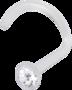 Nenäkoru, nenänappi Bioplast® Nosestud with Clear Crystal