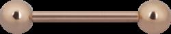 Barbell 1,6mm|Steel Roseline®