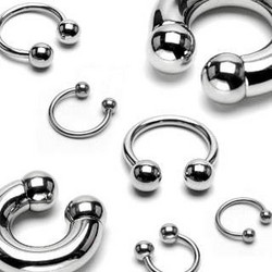Hevosenkenkä 1,2mm|Steel Circular Barbell with 4mm Balls