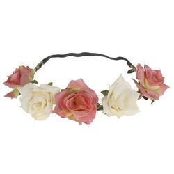 Kukkapanta|SUGAR SUGAR, Soft Pink and White Roses -hiuspanta