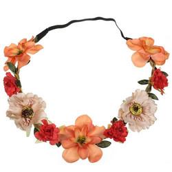 Kukkapanta|SUGAR SUGAR, Small Flowers in Orange and Nude -hiuspanta