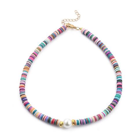 Kaulakoru, PAPARAZZI Multicolor Surf Necklace with Pearl