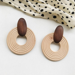 Puiset korvakorut, Natural Wooden Earrings (brown)