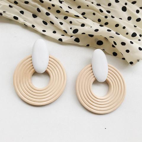 Puiset korvakorut, Natural Wooden Earrings (white)