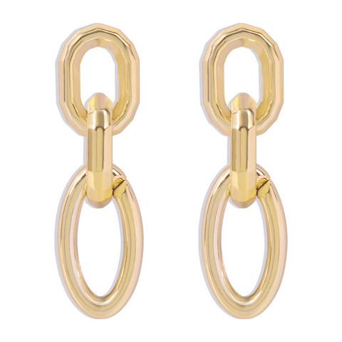Korvakorut, PAPARAZZI Chunky Oval Gold Chain Earrings