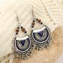 Korvakorut, FRENCH RIVIERA Bohemian Silver Earrings