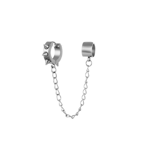 Kirurginteräsrengas, Steel Hoop with Spikes and Chain