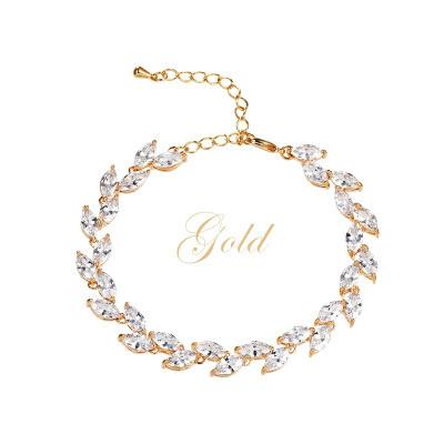 Rannekoru, ATHENA BRIDAL|Classic Cubic Zirconia Bracelet in Gold