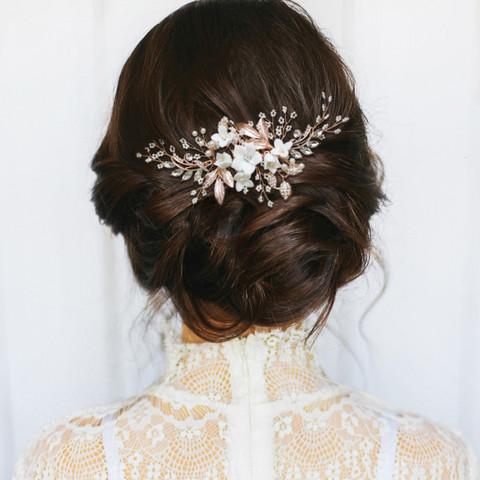 Hiuskoru, ATHENA BRIDAL Blooming Jasmin Headpiece -Luxe Hair Comb (RG)