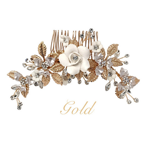 Hiuskoru, ATHENA BRIDAL|Blooming Roses Headpiece -Luxe Hair Comb (G)